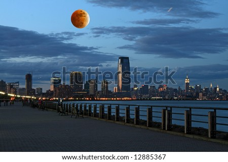 The New York City skyline from the Liberty State Park