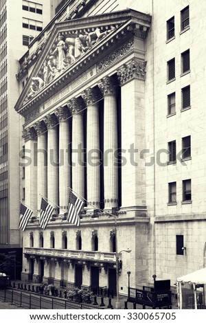 The New York Stock Exchange on Wall Street in New York City - stock photo