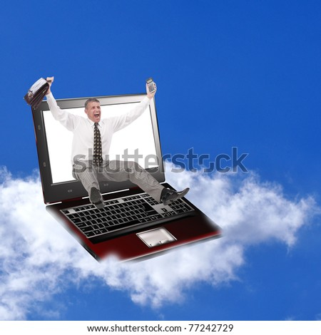 The newest computer innovative technologies promote successful business - stock photo