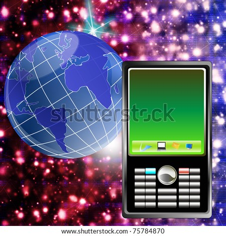 The newest computer technologies allow to create phones of new generation - stock photo