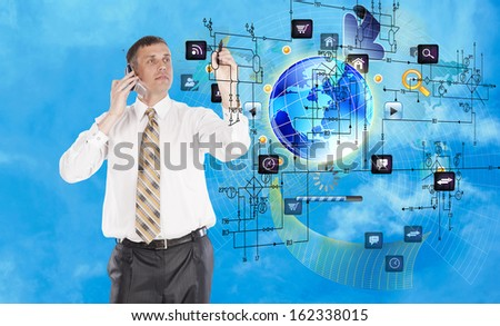 The newest Creative Internet technologies  - stock photo