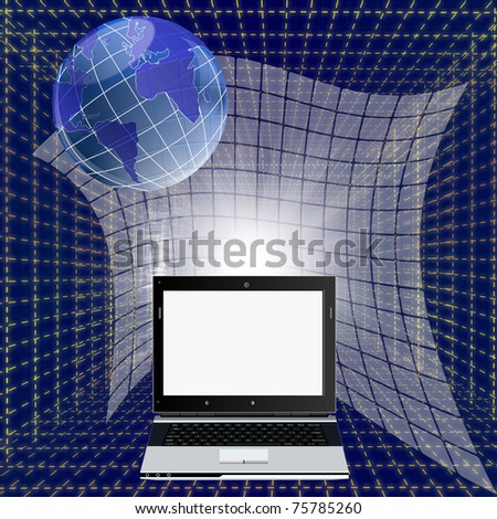 The newest modern computer technologies create electronic cars of new generation - stock photo
