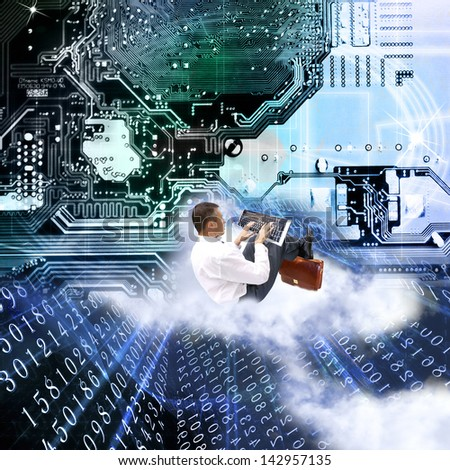 The newest the technology computers - stock photo
