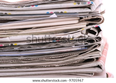 The newspaper business of news - stock photo