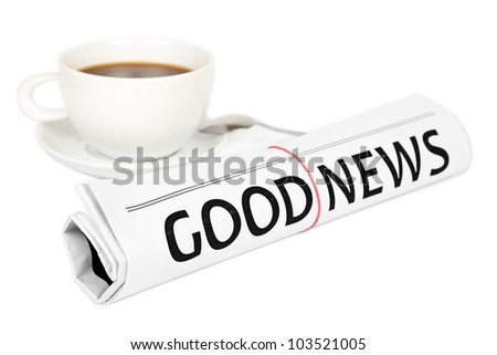 The newspaper GOOD NEWS - stock photo