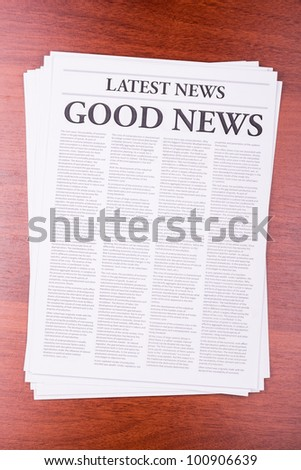 The newspaper LATEST NEWS with the headline BIG NEWS - stock photo
