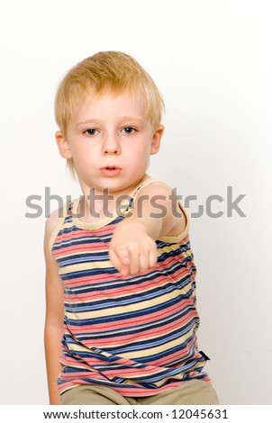 The nice Boy to school age. A portrait - stock photo