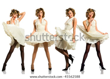 The nice girl isolated on a white background