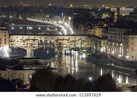 the night of ponte vecchio, Florence