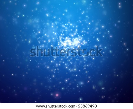The night star sky. Space open - stock photo