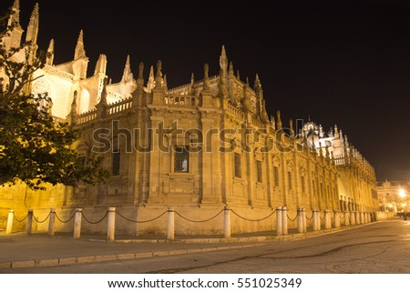 The nights in Seville, Spain