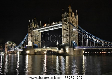 The nightscape Of Tower Bridge