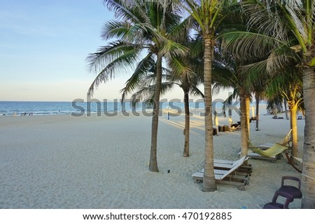 The Non Nuoc Beach near Da Nang in Central Vietnam