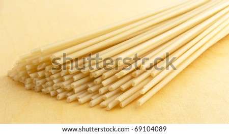 The Noodle - a products from hard sort of the wheat.