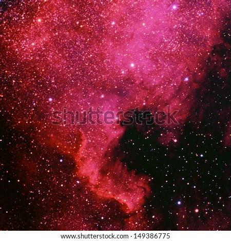 The North American Nebula, NGC 7000 - stock photo