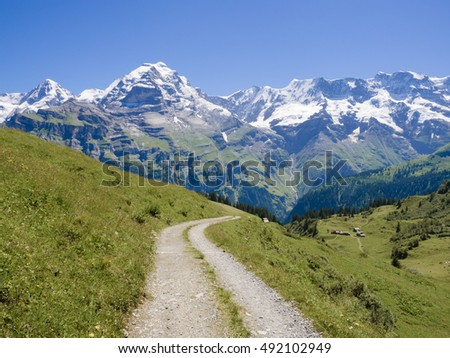 The North Face trail, Jungfrau region, Switzerland