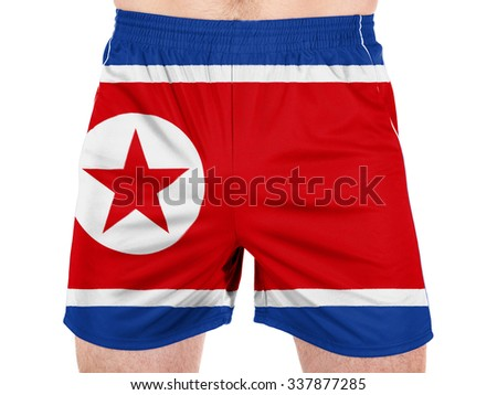 The North Korea flag  - stock photo