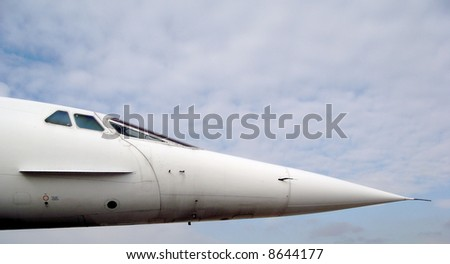 the nose of the concord - stock photo
