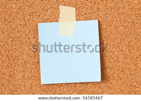 the note paper on corkboard - stock photo