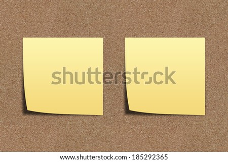 The Note paper on sand board