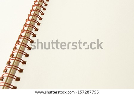 The notebook isolated on white background with clipping path.