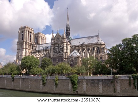 The Notre Dame Cathedral, and River Seine, Paris