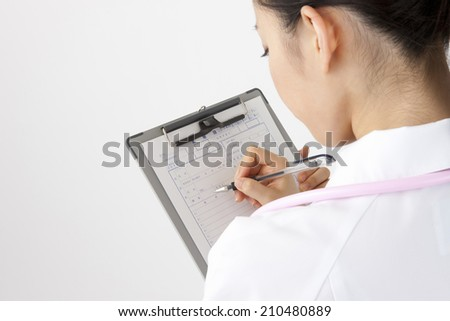 The nurse writing the medical records