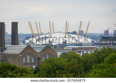 The O2 Arena London in North Greenwich - LONDON / ENGLAND - SEPTEMBER 23, 2016