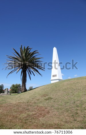 The obelisk is a prominent local landmark in Newcastle Australia. The obelisk was erected in 1850 as a navigation aid for shipping in the nearby Newcastle Harbour.