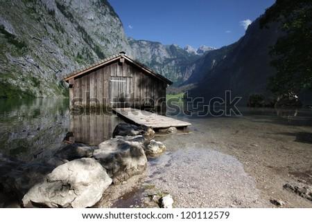 The Obersee above lake Konigssee near Schonau, Bavaria, in Summer - stock photo