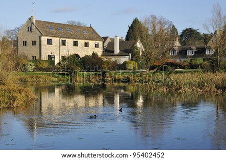 The Ocean Canal Pond at Stonehouse, Stroud, Gloucestershire - stock photo
