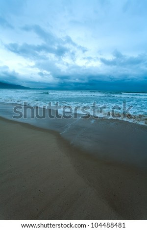 the ocean during a storm - stock photo