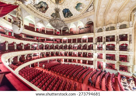 The Odessa National Academic Theater of Opera and Ballet in Ukraine. Central Golden Hall. 06 Jan 2014