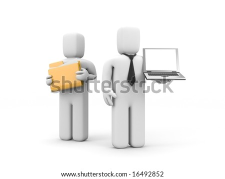 The offer of services - stock photo