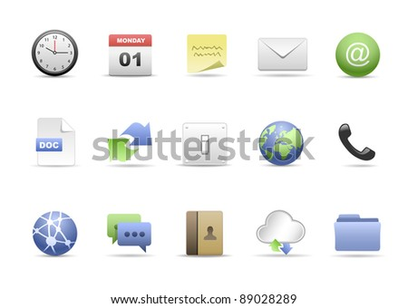 The Office Icon Set - stock photo