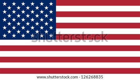 The official basic design of the current U.S. flag for the U.S. federal government. Original colors. Specified by Title 4 of the U. S. C. �§ 1; Title 4 of the U. S. C. .�§ 2. Adopted July 4, 1960.