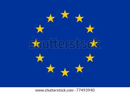 The official european union flag - stock photo
