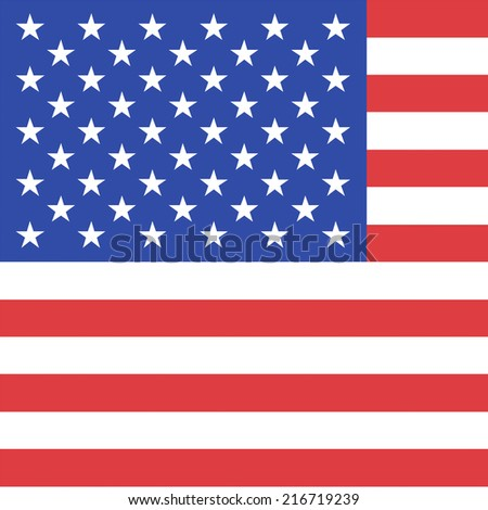the official flag of the United States of America - stock photo