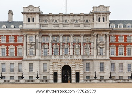 The Old Admiralty Building houses a part of the Foreign and Commonwealth Office of the United Kingdom. London, UK - stock photo