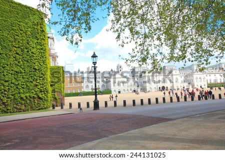 The Old Admiralty Building in Horse Guards Parade in London. Once the operational headquarters of the Royal Navy, it currently houses part of the Foreign and Commonwealth Office of the United Kingdom. - stock photo