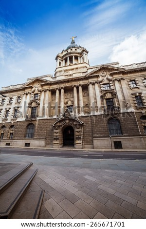The Old Bailey, Criminal Courts, London UK. - stock photo
