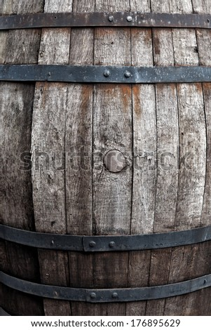 The old barrel - stock photo