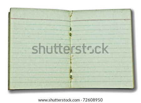 The Old blank paper isolated on white background - stock photo