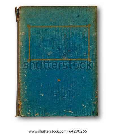 The Old book isolated on white background