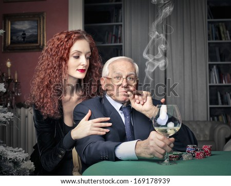 The Old Boss - stock photo
