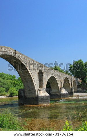 The old bridge of Arta Greece