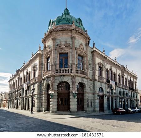 The old building of the Teatro Macedonio Alcala in Oaxaca - Mexico - stock photo