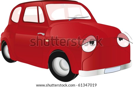 The old car from a fairy tale - stock photo