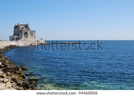 The Old casino in Constanta, Romania, on the Black Sea coast - stock photo