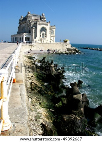 The Old casino in Constanta, Romania, on the Black Sea coast - historic building